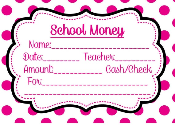 School money label pink dots download and print yourself lunch field school money label pink dots download and print yourself lunch field trip tuition elementary envelope cash check book order class classroom from solutioingenieria Gallery