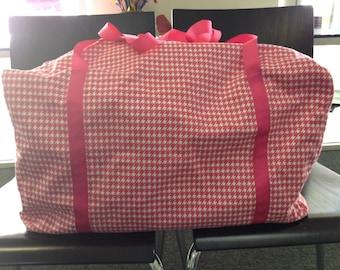 Houndstooth weekender bag