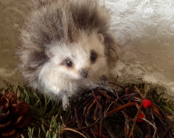 Made to order - 6 Inch Needle felted Poseable Baby hedgehog handmade animal wool woodland wildlife