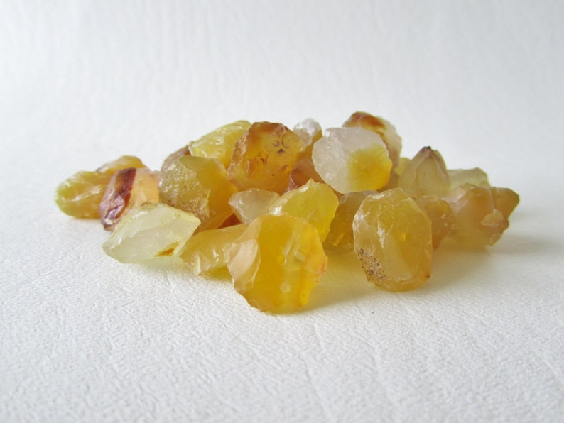 4 pieces Deep Butter Yellow Chalcedony Hammer Faceted Discs