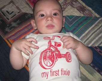 my first fixie baby T shirt