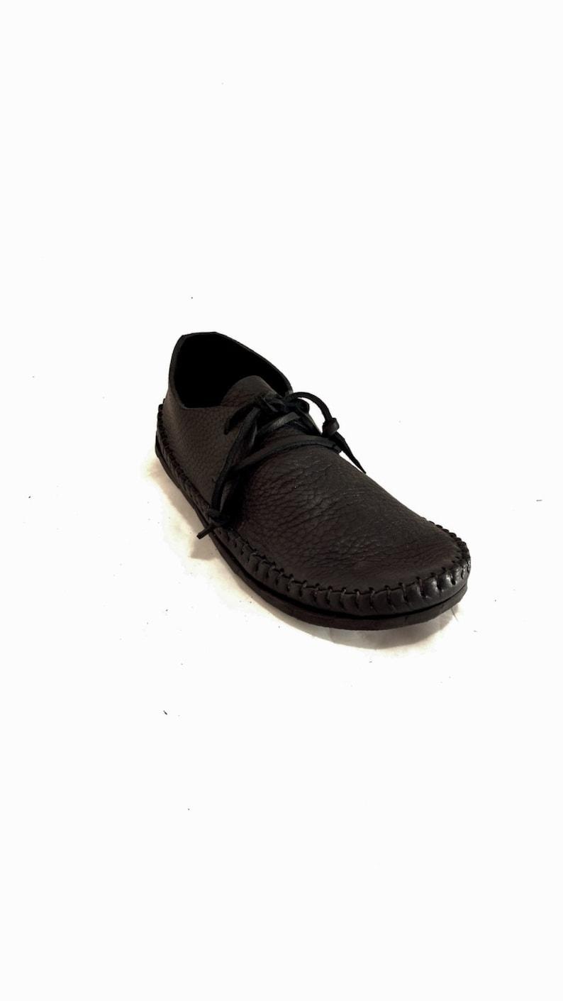 BLACK or CHOCOLATE BROWN Sneakasin moccasins image 0