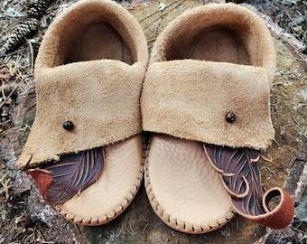Leaf & Stone Inca Moccasins / Zero Drop Minimalist Leather Bullhide Durable Nature Handmade Festival