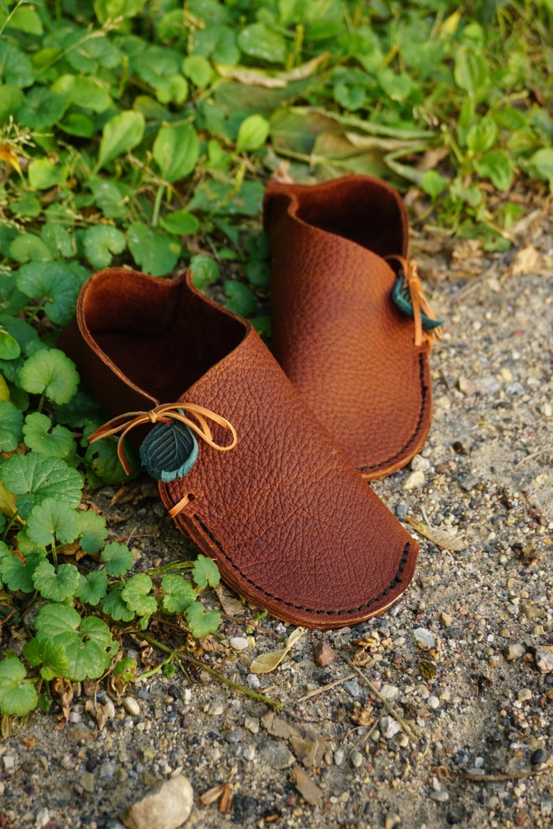 3ca4a675464 ADULT Soccasin Moccasin / Grounding Earthing Shoes Handmade Leather  Moccasins House Slippers Slip On Light Elf Fairy Pixie Womens Mens