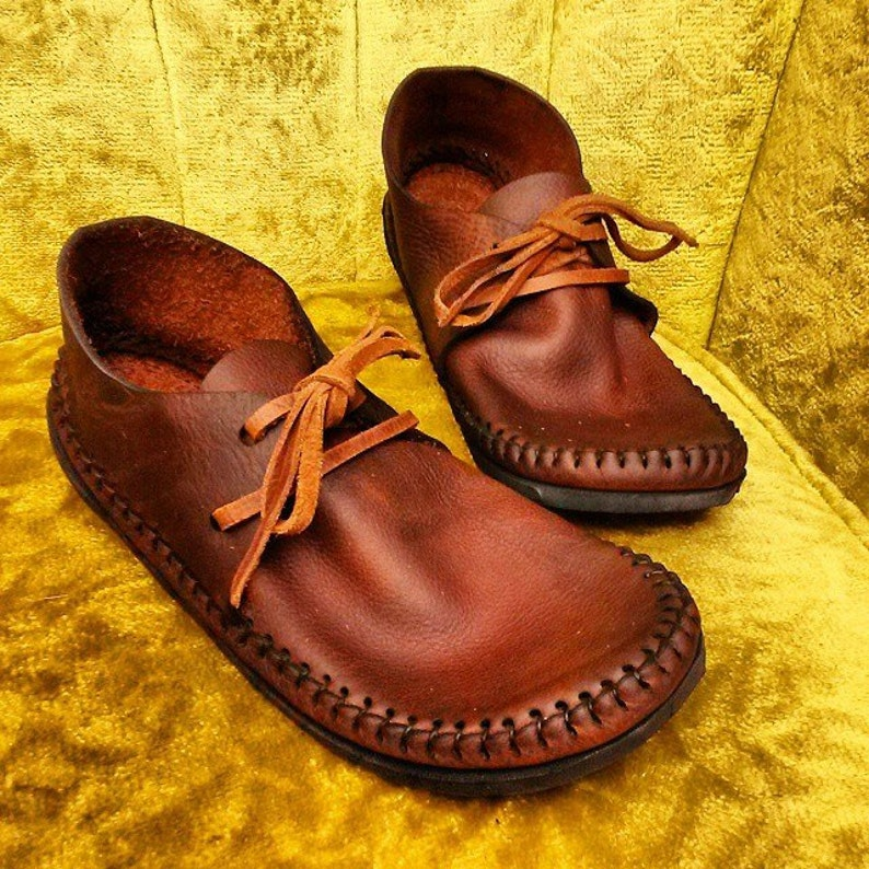 NEW Sneakasin Moccasin Hand Stitched Lightweight Cowhide image 0