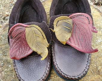 Two Leaf Inca Moccasins / Zero Drop Minimalist Leather Bullhide Durable Nature Handmade Festival