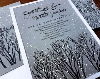 Winter wedding invitations etsy more colors winter wedding invitations filmwisefo