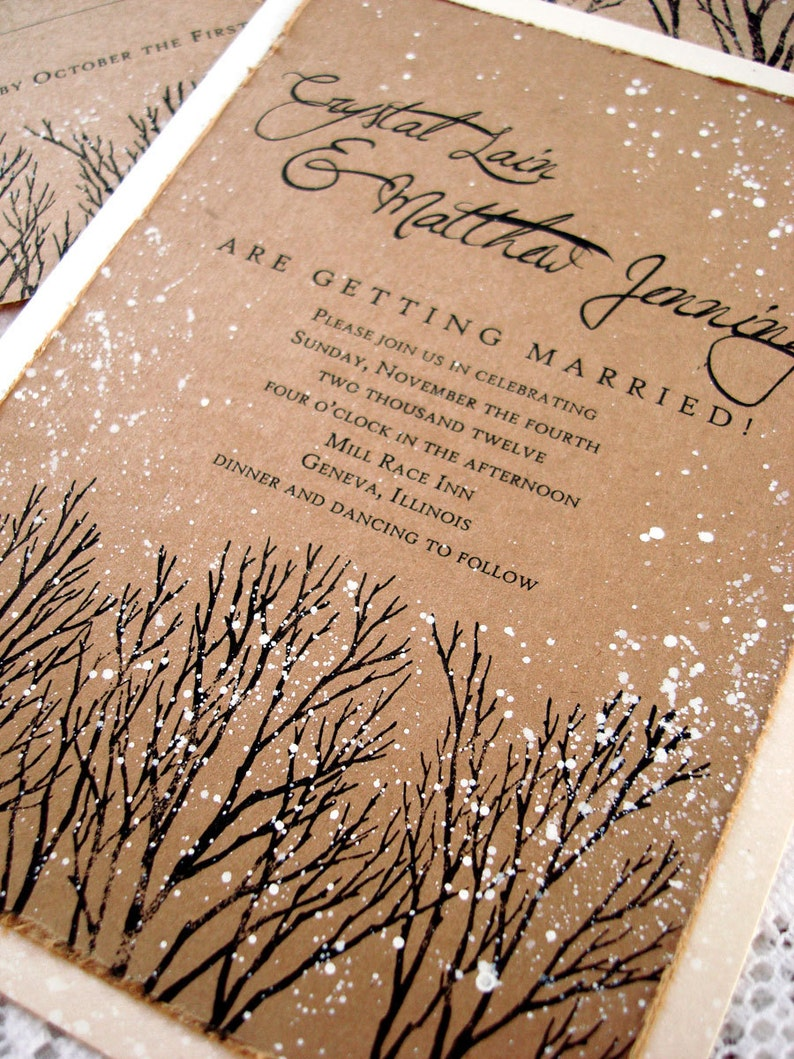 Image 0: Tree Wedding Invitations Arrow At Reisefeber.org