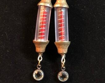 Red Doppler: Tesla Earrings