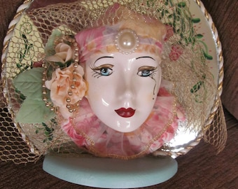 Handcrafted Harlequin Face by Marianne of Maui