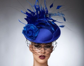 Royal Blue Fascinator 5c4a7e3321d