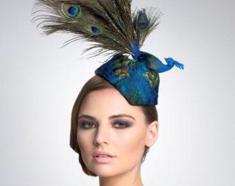 a95ccad5fe144 Peacock fascinator