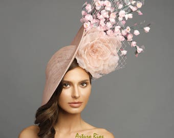9ca880ab40216 Blush pink fascinator