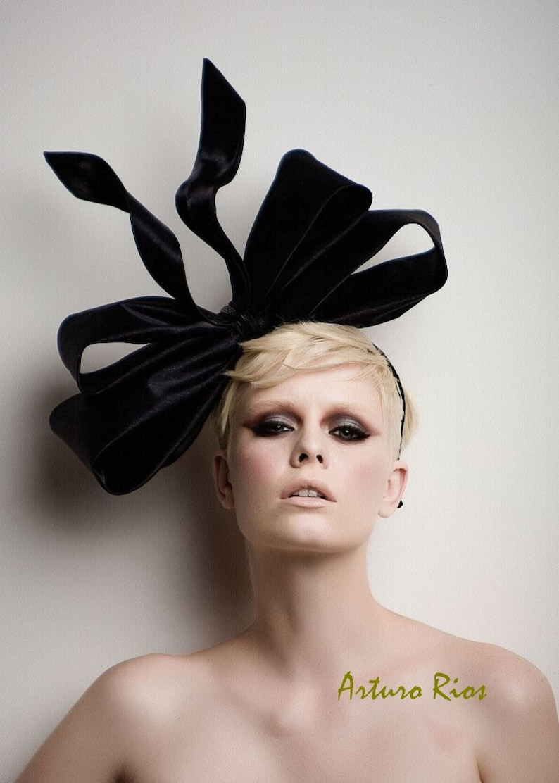 Couture Bow fascinator fashion headpiece fascinator  020b2f349be