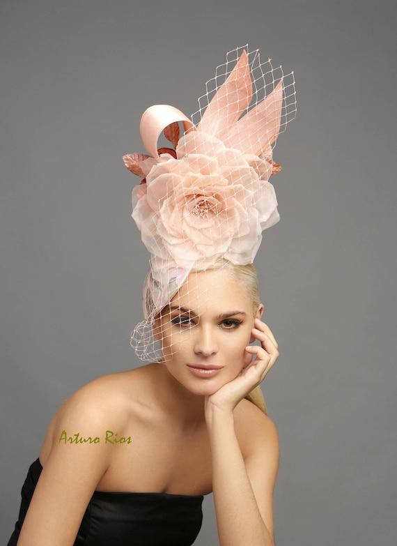 3d5ea62731351 Blush pink fascinator Oaks day fascinator kentucky derby