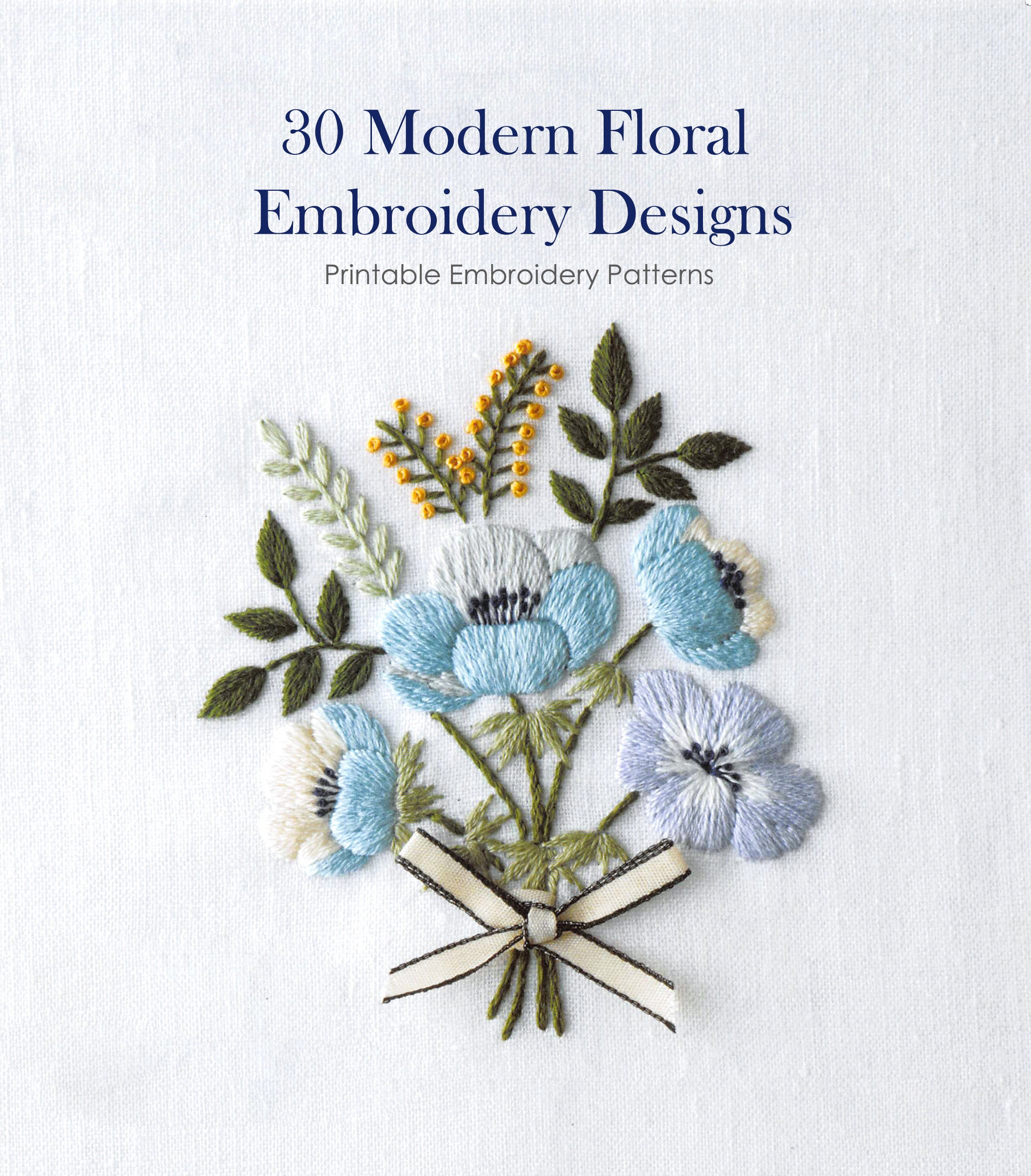 30 Hand Embroidery Design Modern Embroidery Patterns Pdf Etsy
