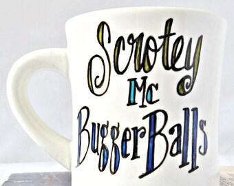 d925b9acfcb Ceramic Mug, Bugger Balls, funny fathers day gift, dad mug, testicles,  penis, dick, snarky, naughty, rude, boyfriend birthday mug