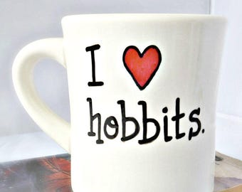 Funny Coffee Mug, Hobbit, LOTR, Fantasy, Shire, Tolkien, Bilbo Baggins, Middle Earth, Lord of the Rings, Bookish, Geek Gifts For Her, Him