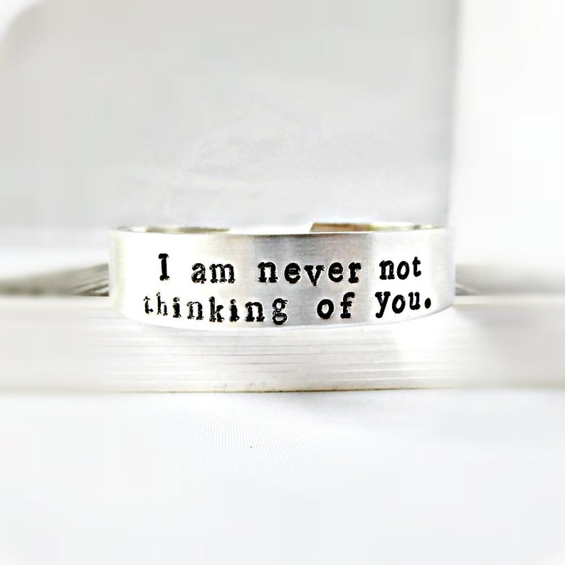 Never Not Thinking of You Quote Bracelet Virginia Woolf image 0