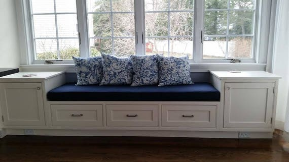 Miraculous Custom Cushion Custom Window Seat Banquette Seat Bench Cushion With Cording Chair Pad Kitchen Cushion Ocoug Best Dining Table And Chair Ideas Images Ocougorg