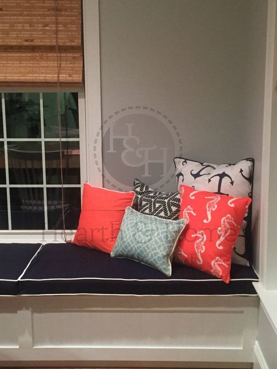 Incredible Custom Cushion Custom Window Seat Banquette Cushions Bench Cushion With Cording Chair Pad Kitchen Cushion Nook Cushion Dailytribune Chair Design For Home Dailytribuneorg