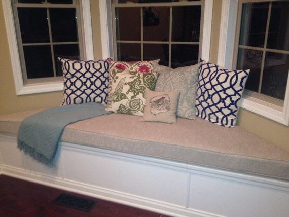 Incredible Custom Trapezoid Bay Window Seat Cushion With Cording Playroom Nursery Bench Seat Chair Pad Window Cushion Short Links Chair Design For Home Short Linksinfo