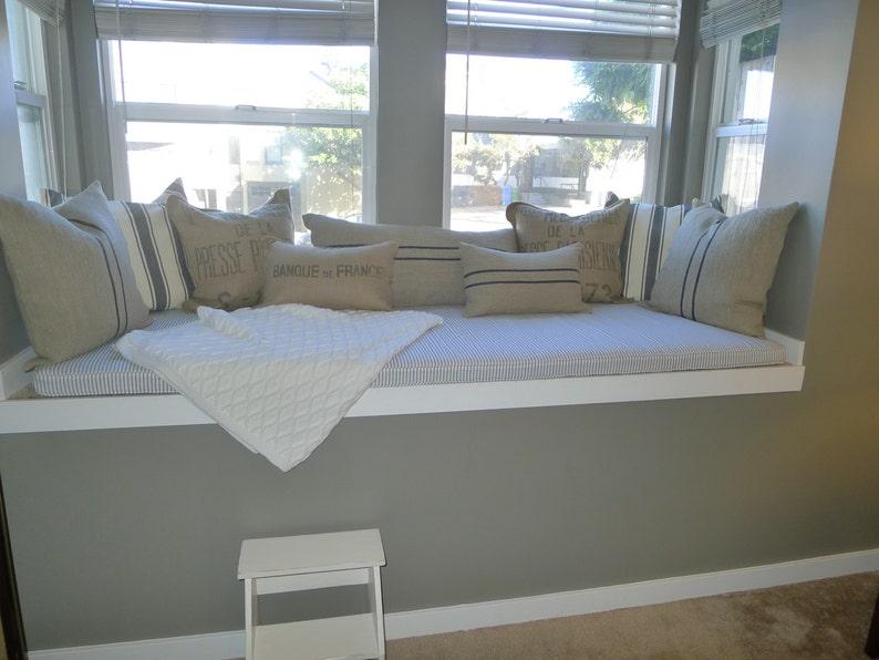 Custom Window Seat Cushion With Cording Bay Window Seat Etsy