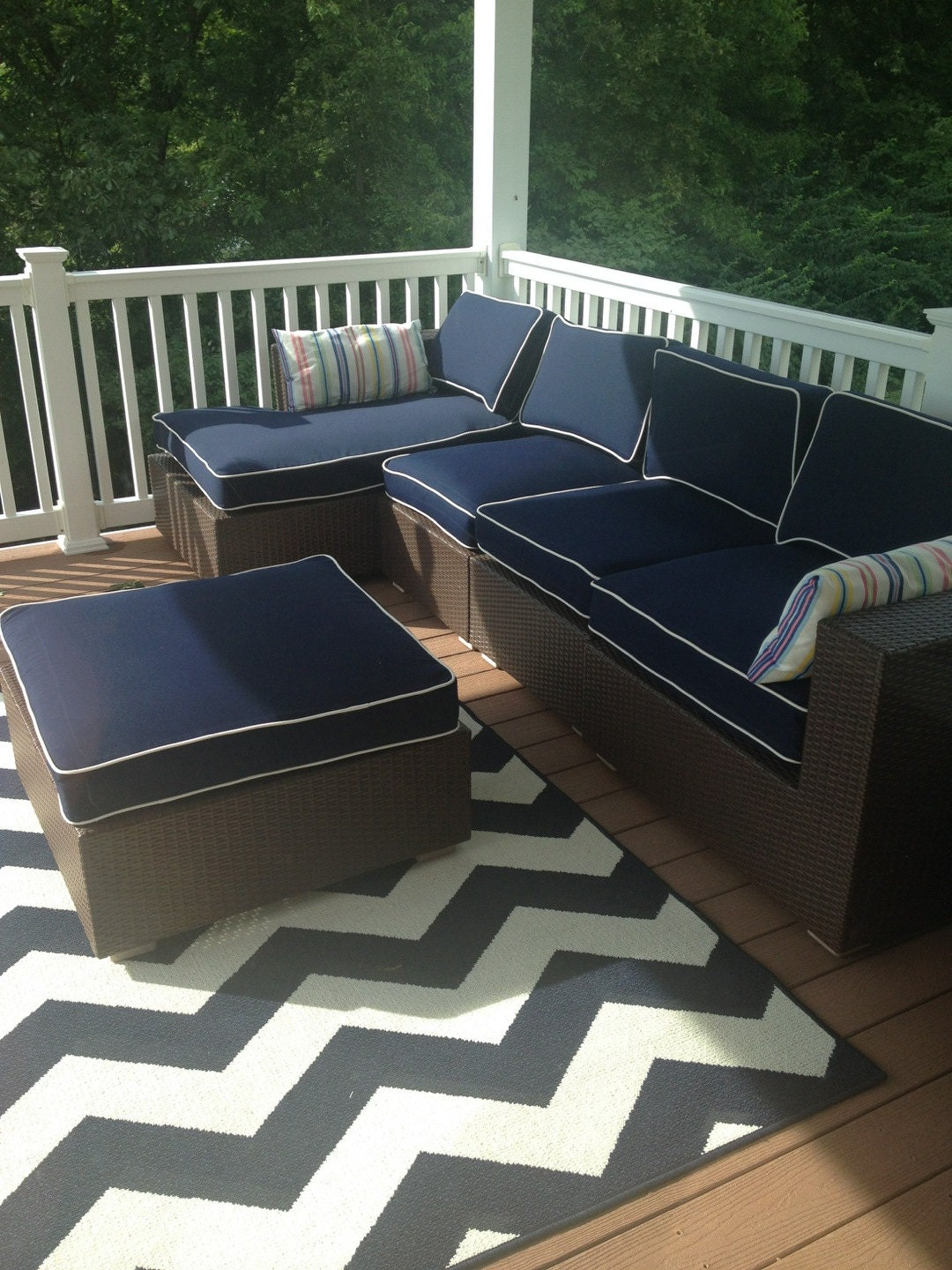 outdoor cushion covers chair pad outdoor seat cushions with etsy. Black Bedroom Furniture Sets. Home Design Ideas