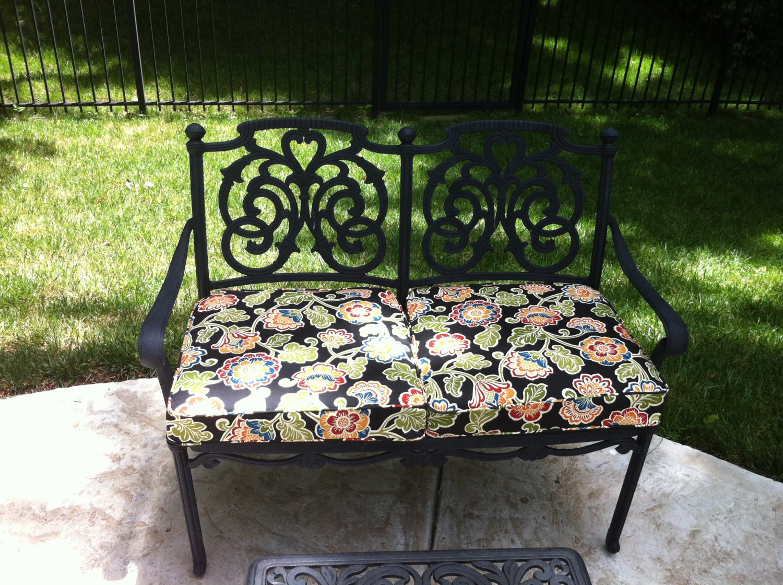 Custom Outdoor Cushions With Cording Featuring Sunbrella