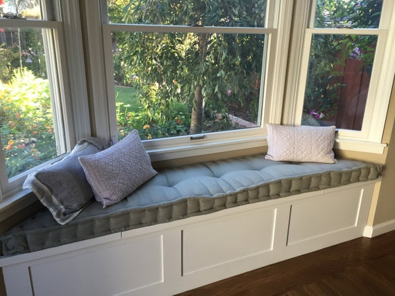 Enjoyable Free Shipping Custom Sewn Hand Tufted Window Seat Cushion French Mattress Tufting Floor Cushion Bench Seat Chair Pad Farmhouse Cushion Ocoug Best Dining Table And Chair Ideas Images Ocougorg