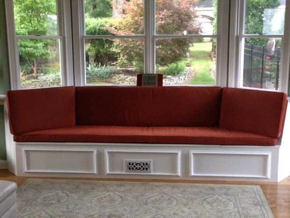 Incredible Custom Bay Window Seat Cushion Trapezoid Cushion With Cording Bench Seat Cushion Custom Cushion Cover Ncnpc Chair Design For Home Ncnpcorg