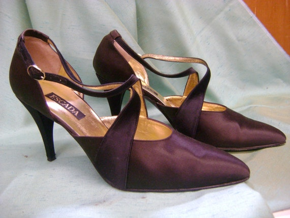 ESCADA 1990s Two Tone Strappy Heels - 10B - image 1