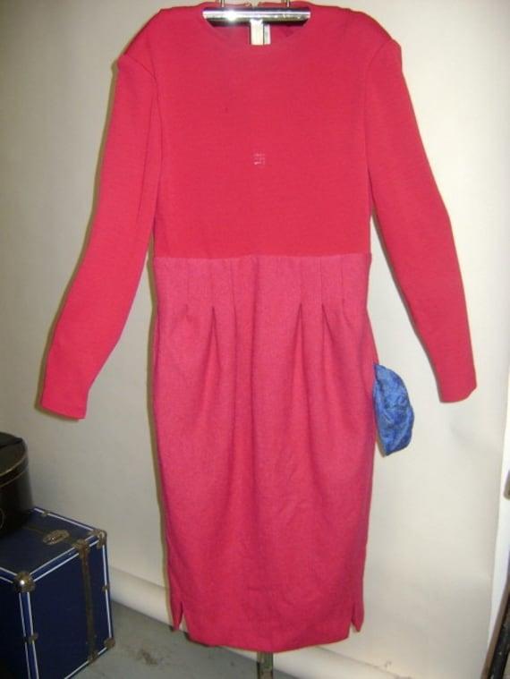Geoffrey Beene Wool Dress with Pockets