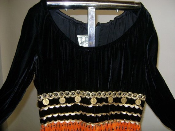 1970's Gypsy Coin Dress