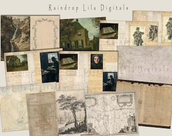 Yesterdays Vintage Background Paper Journaling Kit
