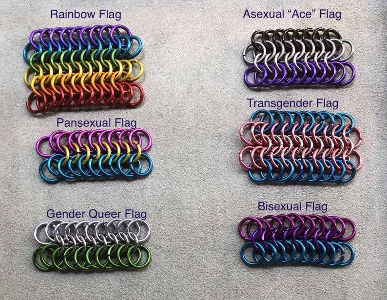 LGBTQ Pride flag bracelets image 0