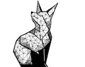 Geometric Fox Print...