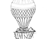 Hot Air Balloon Print...