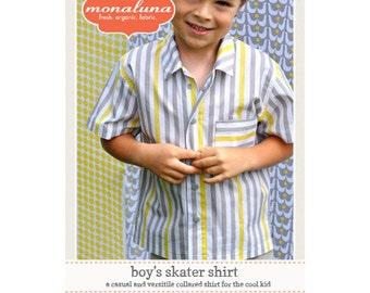 Boy's Skater Shirt Pattern, by Monaluna