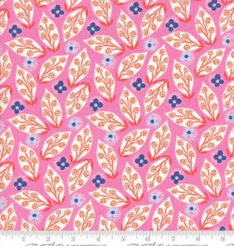 floral and geometric 6 Half yards VOYAGE by KATE SPAIN  Moda Fabrics .. orange purple pink blue Mandarin Colorway ..