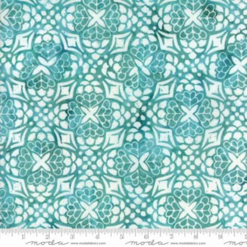 Turquoise Sea Glass .. turquoise colorway 27259 152 Kate Spain LONGITUDE Batiks by Moda Fabrics ..