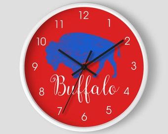 Buffalo Sabres Digital LED Clock Multi Color Changing Alarm Desk Decor