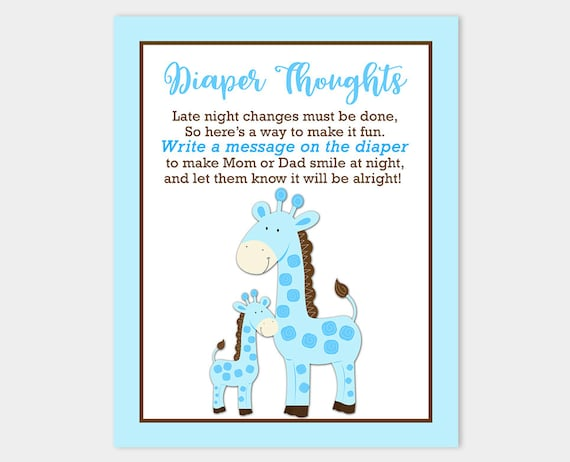 Blue Giraffe Baby Shower