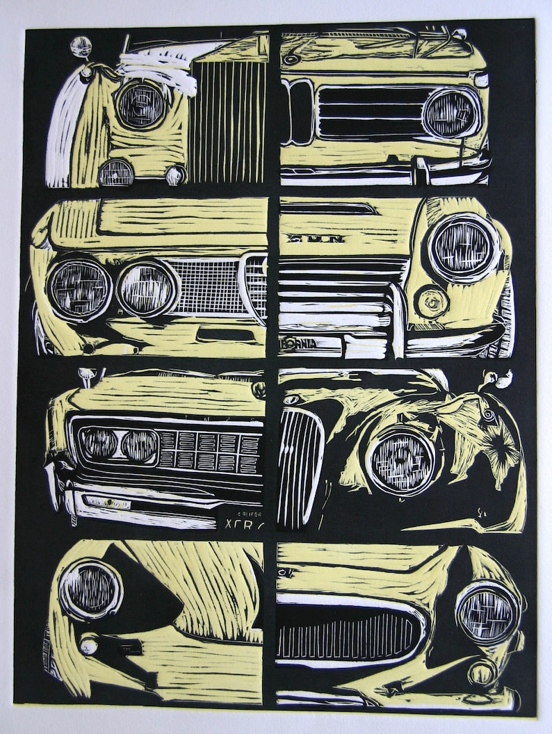 Ards TT limited edition art print by Jeff Rush Vintage car