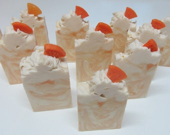 Orange Creamsicle Bar Soap, handcrafted luxury soap, vegan with shea butter, coconut oil, olive oil