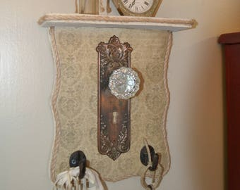 Door knob organizer shelf