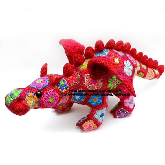 Smaug el dragón de la flor africana ganchillo patrón   Etsy