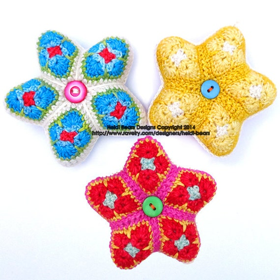 Kleinen Sternen Afrikanische Blume Häkeln Muster Etsy