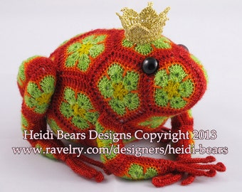 Tomato the Frog Prince African Flower Crochet Pattern
