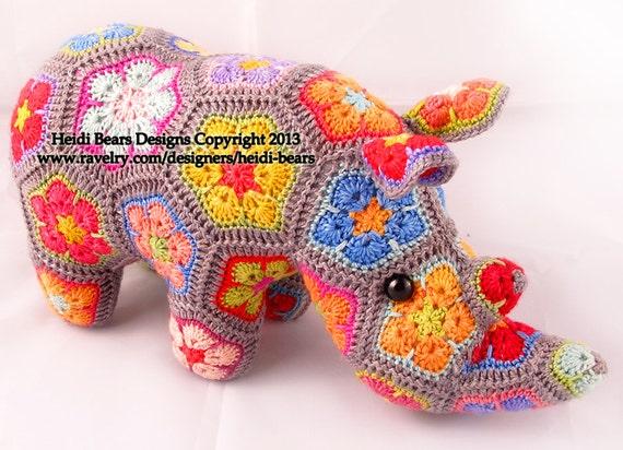 Thandi Afrikanische Blume-Rhino Häkelanl... | Etsy